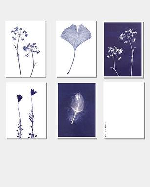 Kartenset blau