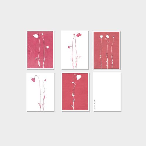 Kartenset Mohnblumen