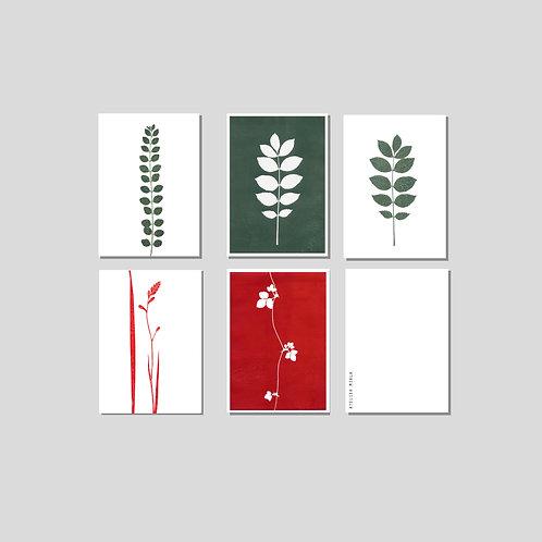 Kartenset Blätter & Ranken
