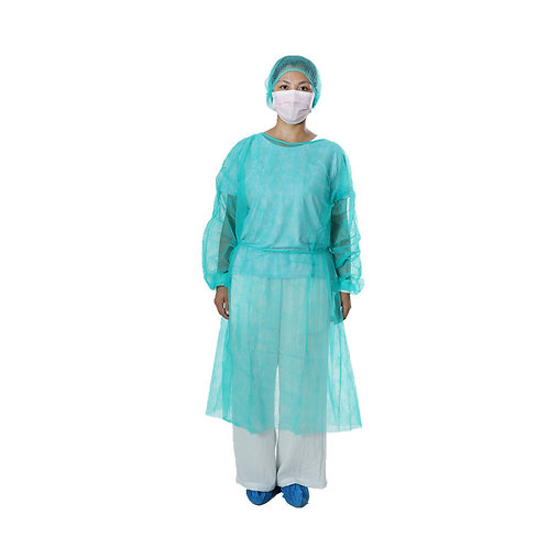 Disposable PP Isolation Gown light green