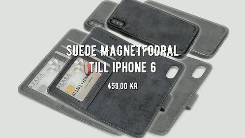 Suede Magnetfodral till iPhone 6