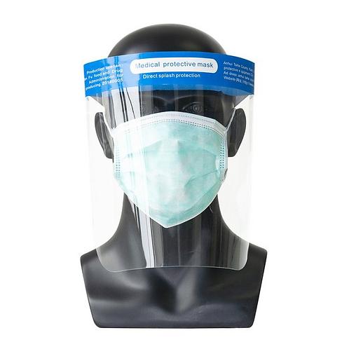 Ansikts skydd i tansparant tålig plast TPU 18 kr/st 500-pack