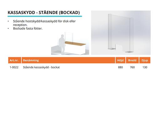 Kassaskydd Stående Bockad