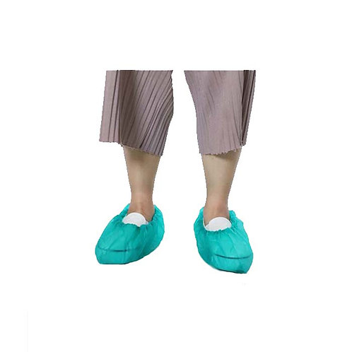 Overshoes 9001 Disposable CPE machine made light green/blue