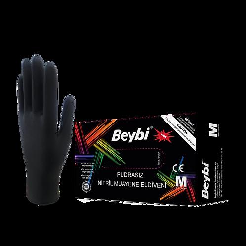 Nitrile Black Examination Gloves Powder Free