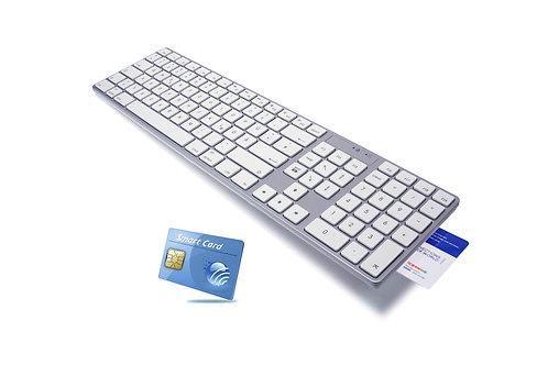Ergonomic Smart Card reader Keyboard