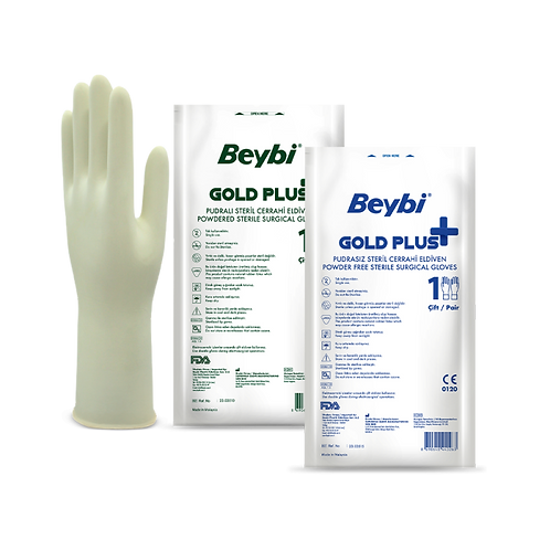 Gold Plus Surgical Gloves Powdered & Powder Free
