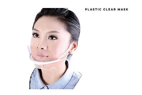 Clear Plastic Mask TPU plastik Stänkskydd