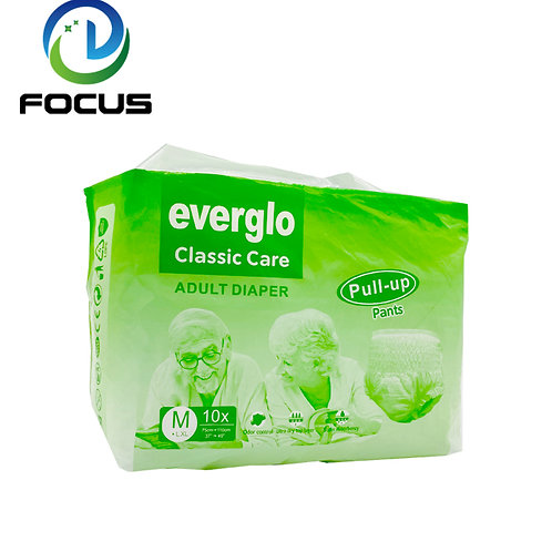 Adult Pull Up Diaper Everglo Classic Care Super dry Inkontinens skydd