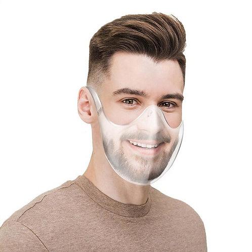 Transparant Munskydd Face Mask Återanvändningsbar 140-pack