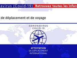 Téléchargement des attestations de déplacement et de voyage en France