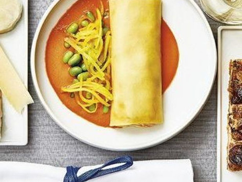 Cannelloni farcis à la ricotta, carottes et courgettes