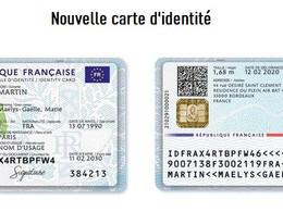 Nouvelle Carte d'identité française, nouveau format et plus sécurisée.