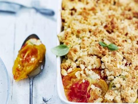Idées recettes 3 : crumble de tomates au piment d'Espelette