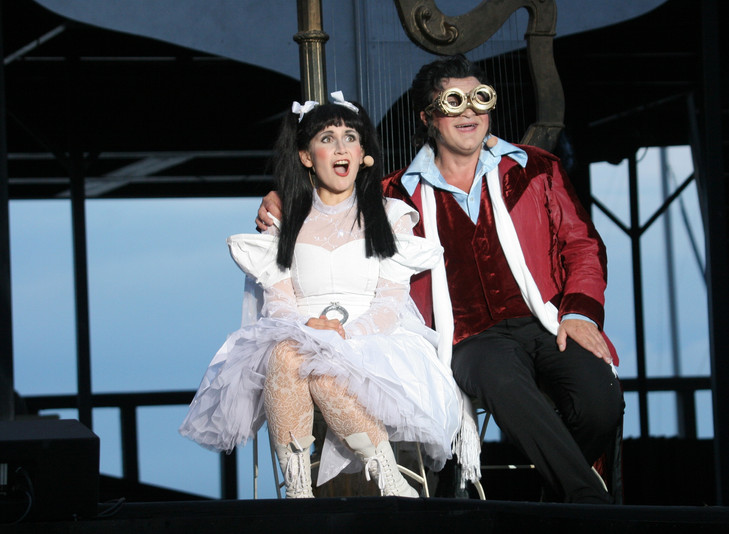 Hoffmann`s Erzählungen, Theater Vorpommern (Olympia: Eva Resch, Hoffmann: Raymond Sepe)