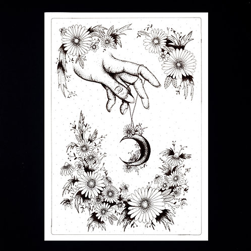 INKED NATURE | The Moon Garland