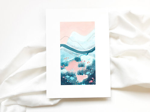 JAPANESE GARDEN   Pink Landscape