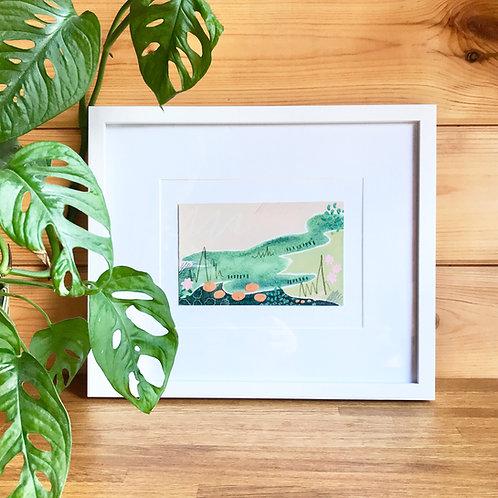 ORIGINALS   Abstract Landscape - Pink & Green