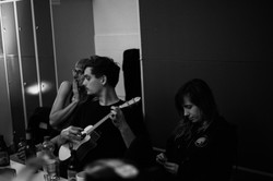 Backstage moments