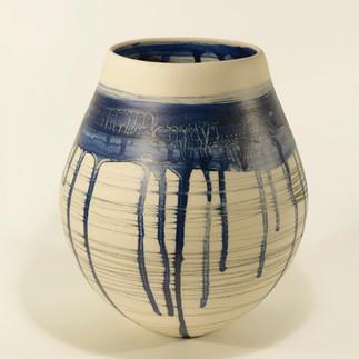 Vase-Stoneware- H26xW19xD19