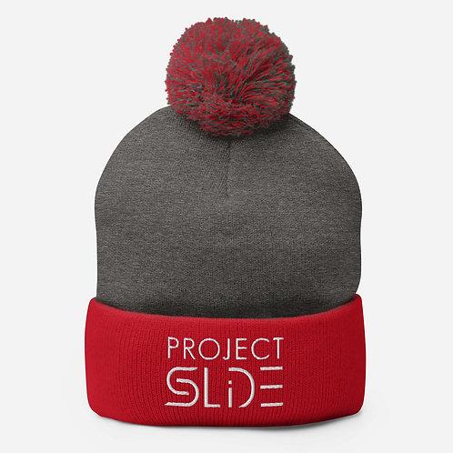 Project Slide Pom-Pom Beanie