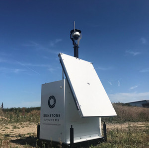 Site surveillance and internet powered entirely by renewable energy.