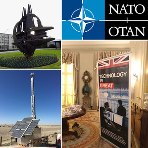 We're at the British Embassy and NATO in Brussels.
