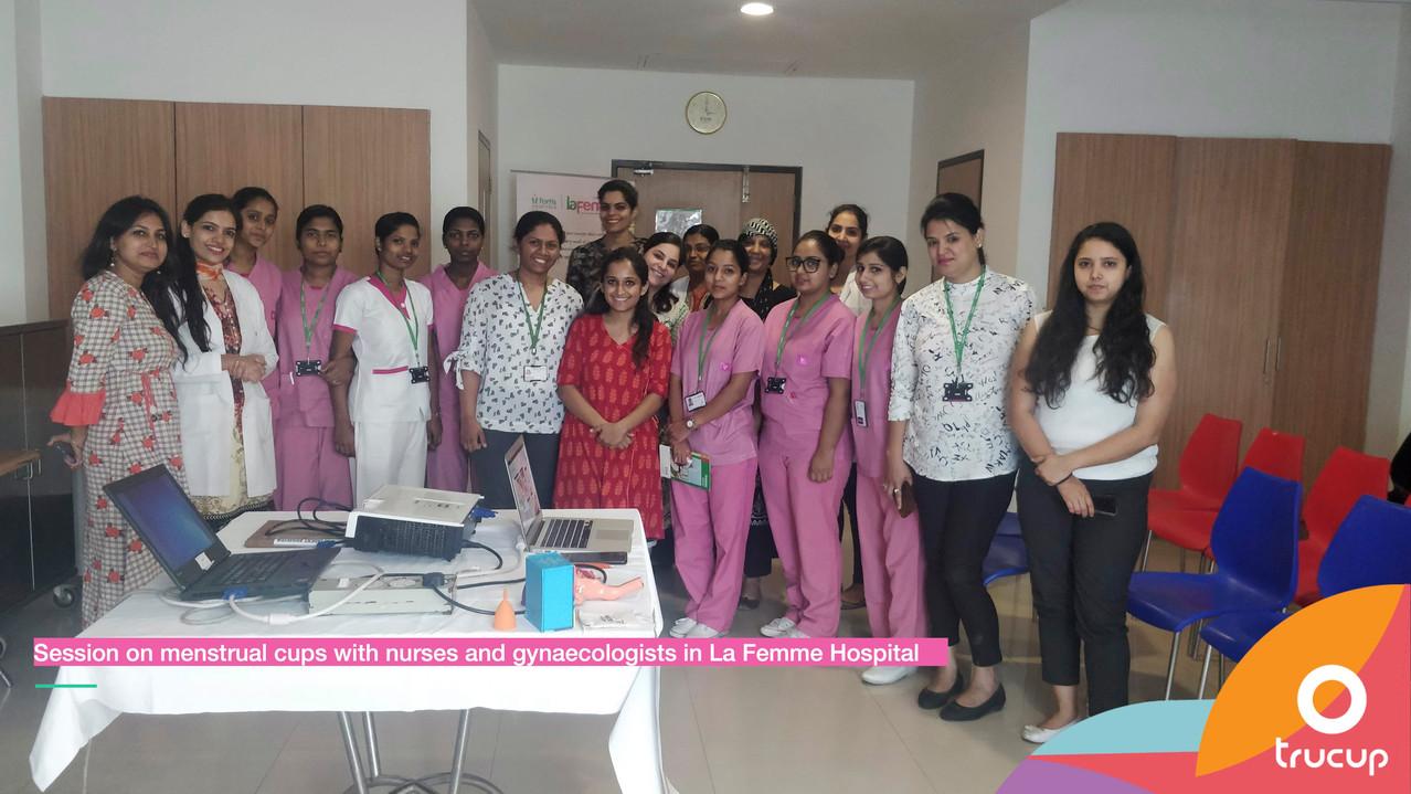 Menstrual Cup Session at La Femme Hospital