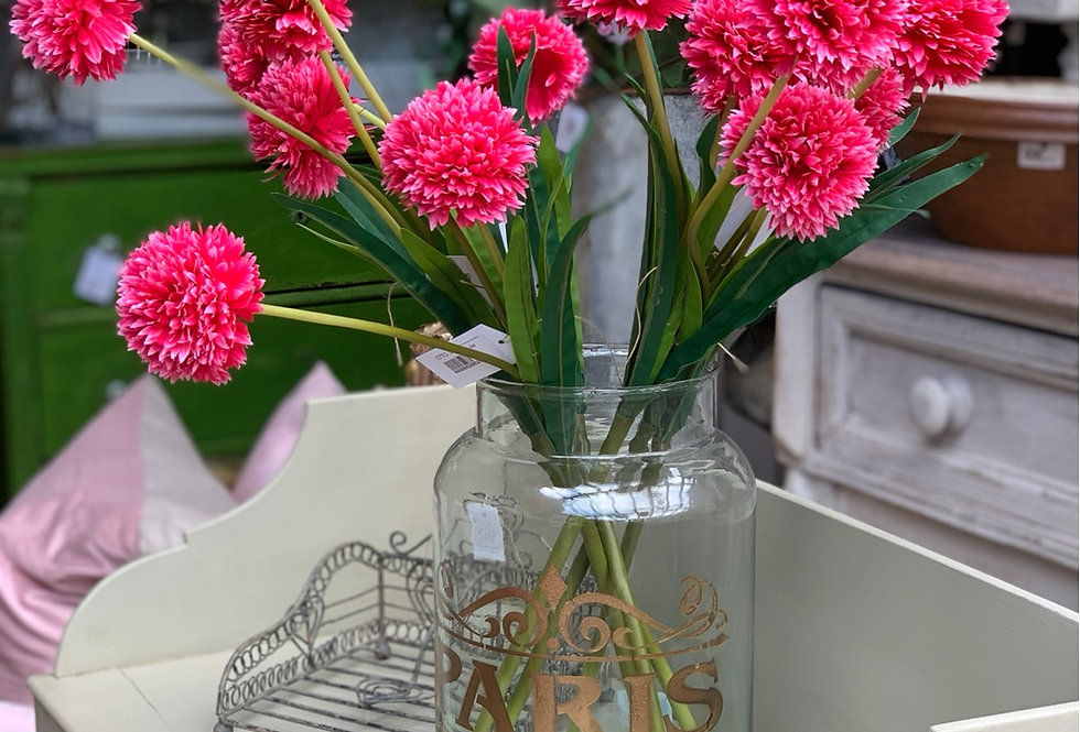Faux Spiky Chrysanthemum