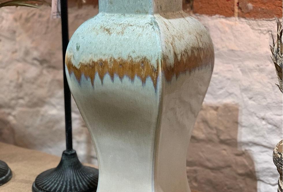 Large Blue Drip Jar
