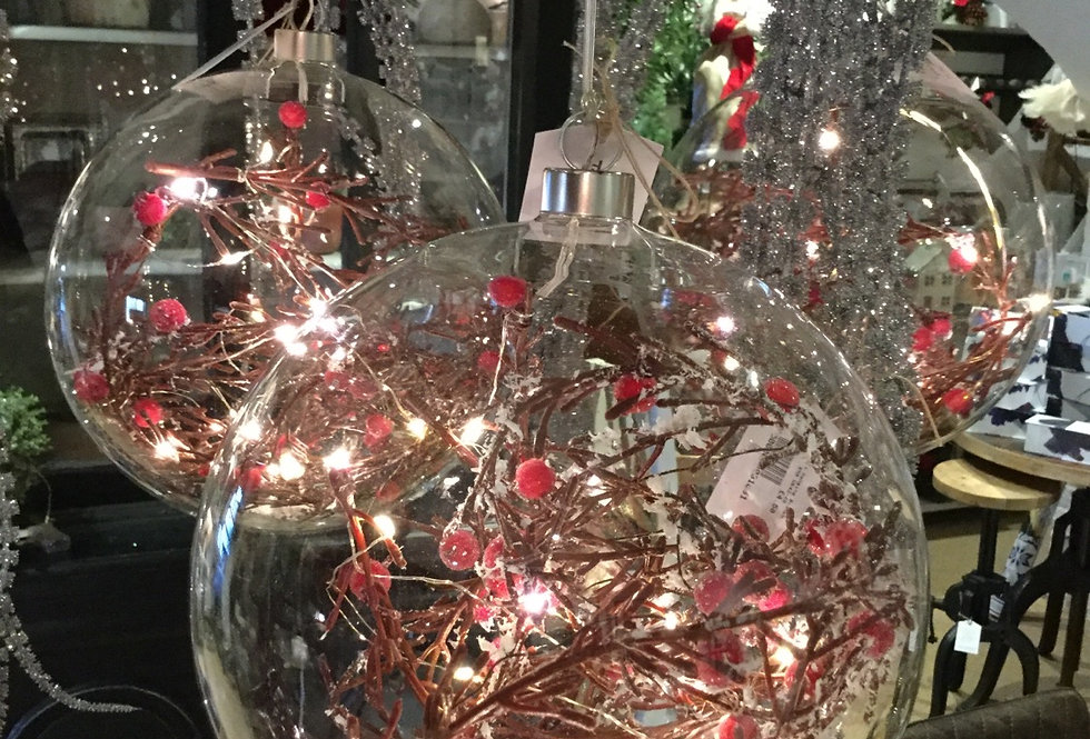 Giant Glass Light Up Bauble