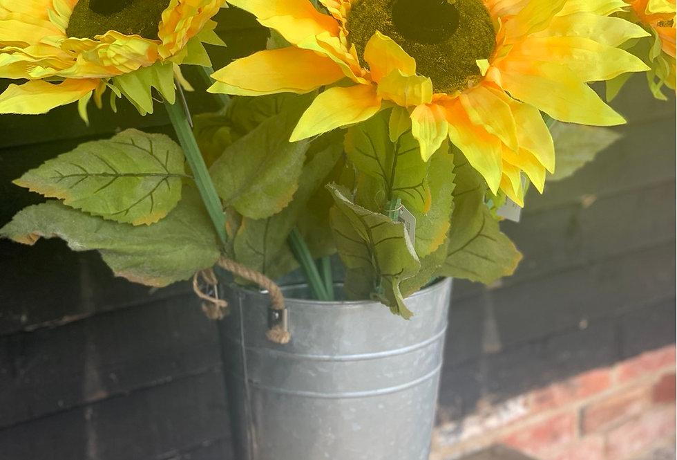 Faux Sunflower Medium