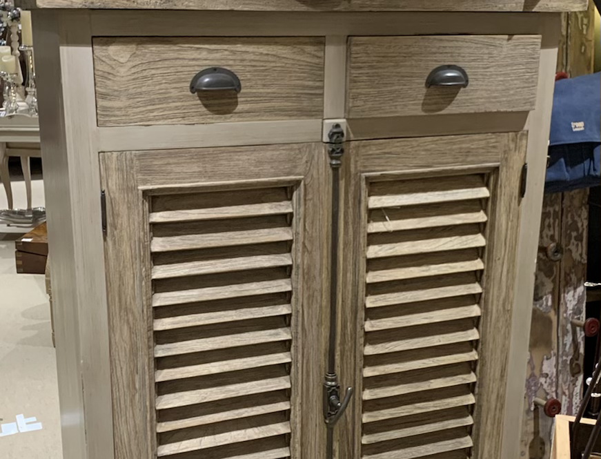 Louvre Door and Drawer Small Cabinet