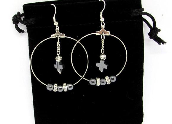 Boucles d'oreilles goth