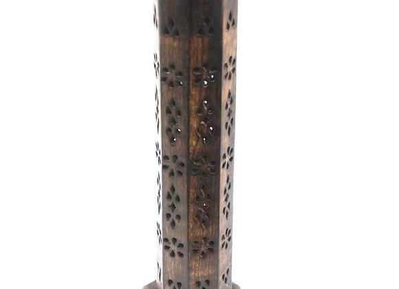 Tour à encens en bois de manguier