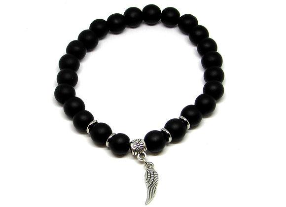 Bracelet Aile d'Ange/ Agate Noire