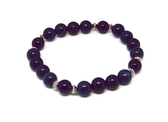 Bracelet Lapis lazuli et Hématite