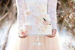 Bröllopstårta bakad av Maddes Bak i Umeå