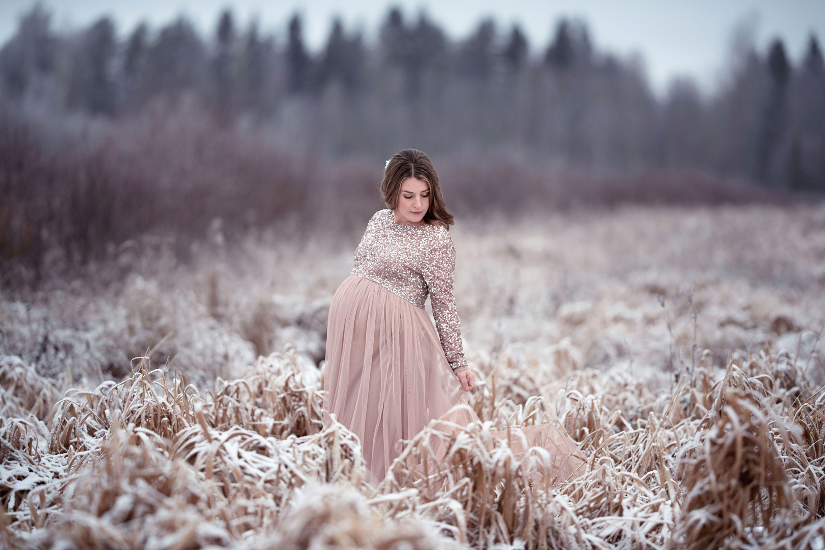 Frostig gravidfotografering