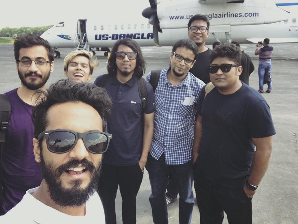 Taken on September 2017. The band was flying to Khulna, which is in the South of Bangladesh.
