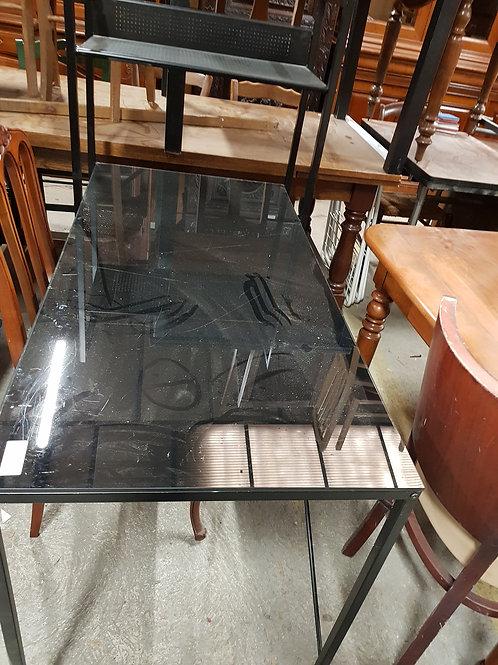 TABLE BUREAU ETAGERE NOIRE