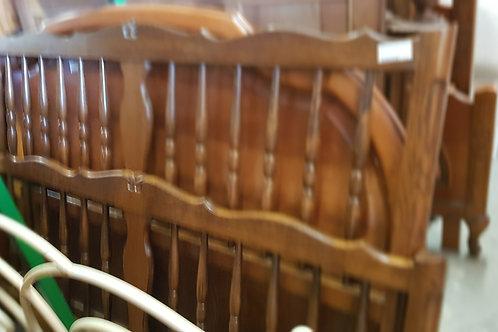 lit bois à barreaux