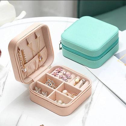 Porta jóias luxo Girl com zíper (ideal para viagem)