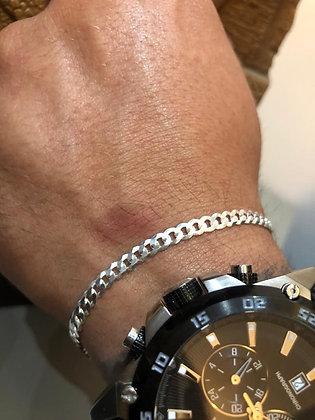 Pulseira masculina prata 1.000 (pura)