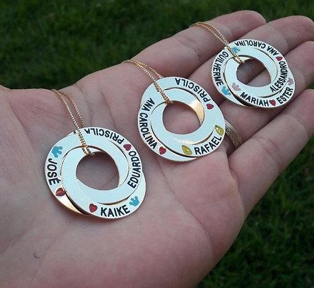 Colar anéis com nomes
