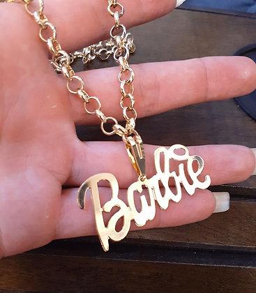 Cordão em elo português Barbie com 20 mls de ouro