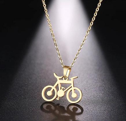 Colar bike delicada