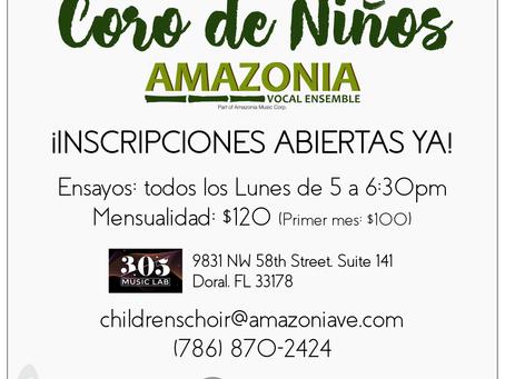Finalmente! El Coro de Niños de Amazonia abre sus puertas