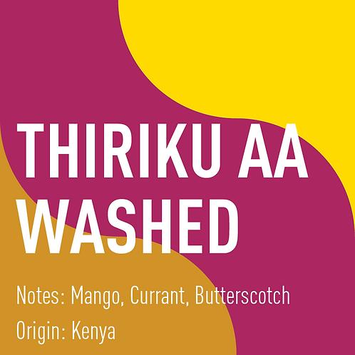 Kenya Thiriku AA Washed (notes: Mango, Currant, Butterscotch)