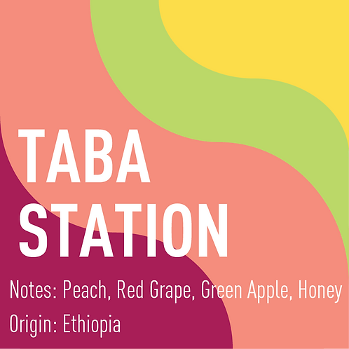 Ethiopia Taba Station (Notes: Peach, Red Grape, Green Apple, Honey)